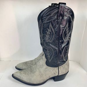 Authentic Tony Lama Exotic Leather Cowboy Boots